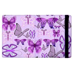 Purple Awareness Butterflies Apple Ipad 3/4 Flip Case by FunWithFibro