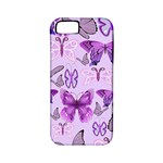 Purple Awareness Butterflies Apple iPhone 5 Classic Hardshell Case (PC+Silicone)