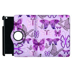 Purple Awareness Butterflies Apple Ipad 3/4 Flip 360 Case by FunWithFibro