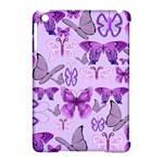 Purple Awareness Butterflies Apple iPad Mini Hardshell Case (Compatible with Smart Cover)