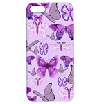 Purple Awareness Butterflies Apple iPhone 5 Hardshell Case with Stand