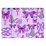 Purple Awareness Butterflies Samsung Galaxy Tab 10.1  P7500 Flip Case