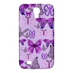 Purple Awareness Butterflies Samsung Galaxy Mega 6 3  I9200 Hardshell Case by FunWithFibro