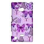 Purple Awareness Butterflies Nokia Lumia 720 Hardshell Case