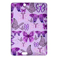 Purple Awareness Butterflies Kindle Fire Hd (2013) Hardshell Case by FunWithFibro