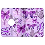 Purple Awareness Butterflies Kindle Fire HDX Flip 360 Case