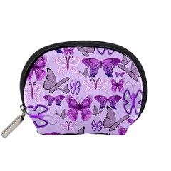 Purple Awareness Butterflies Accessory Pouch (small) by FunWithFibro