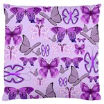 Purple Awareness Butterflies Standard Flano Cushion Case (Two Sides)