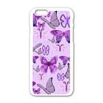Purple Awareness Butterflies Apple iPhone 6 White Enamel Case