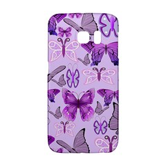 Purple Awareness Butterflies Samsung Galaxy S6 Edge Hardshell Case by FunWithFibro
