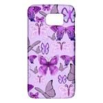 Purple Awareness Butterflies Samsung Galaxy S6 Hardshell Case