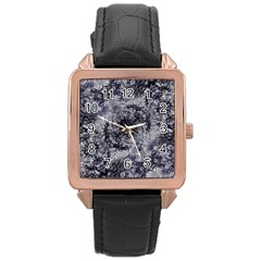 Nature Collage Print  Rose Gold Leather Watch  by dflcprints