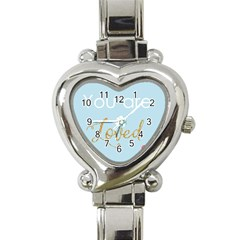 You Are Loved Heart Italian Charm Watch by Kathrinlegg