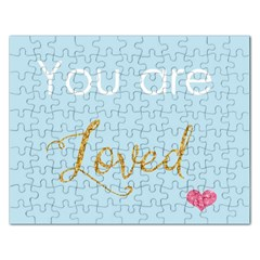 You Are Loved Jigsaw Puzzle (rectangular) by Kathrinlegg