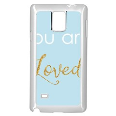 You Are Loved Samsung Galaxy Note 4 Case (white) by Kathrinlegg
