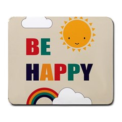 Be Happy Large Mouse Pad (rectangle) by Kathrinlegg