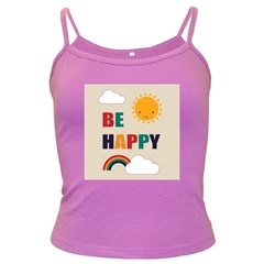 Be Happy Spaghetti Top (Colored) by Kathrinlegg