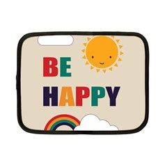 Be Happy Netbook Sleeve (small) by Kathrinlegg