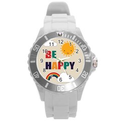 Be Happy Plastic Sport Watch (large) by Kathrinlegg