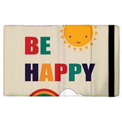 Be Happy Apple Ipad 3/4 Flip Case by Kathrinlegg