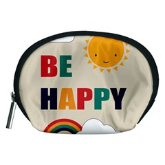 Be Happy Accessory Pouch (medium) by Kathrinlegg