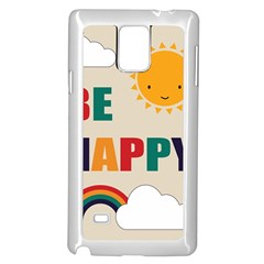 Be Happy Samsung Galaxy Note 4 Case (white) by Kathrinlegg