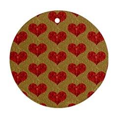 Sparkle Heart  Round Ornament by Kathrinlegg