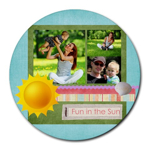 Summer By Summer Time    Round Mousepad   Kcqvpypibx5i   Www Artscow Com Front