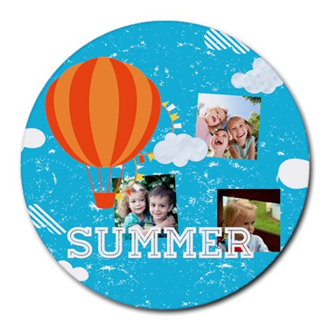 Summer By Summer Time    Round Mousepad   Hcn9w8flq96t   Www Artscow Com Front