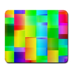 Colorful Gradient Shapes Large Mousepad by LalyLauraFLM