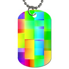 Colorful Gradient Shapes Dog Tag (one Side) by LalyLauraFLM
