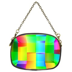 Colorful Gradient Shapes Chain Purse (two Sides) by LalyLauraFLM