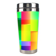 Colorful Gradient Shapes Stainless Steel Travel Tumbler by LalyLauraFLM