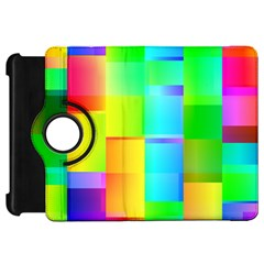 Colorful Gradient Shapes 	kindle Fire Hd Flip 360 Case by LalyLauraFLM