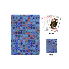 Peace And Love Playing Cards (mini) by LalyLauraFLM