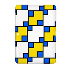 Yellow And Blue Squares Pattern Samsung Galaxy Tab 2 (10 1 ) P5100 Hardshell Case  by LalyLauraFLM