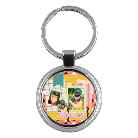 Kids By Kids   Key Chain (round)   Apffppud0s3v   Www Artscow Com Front