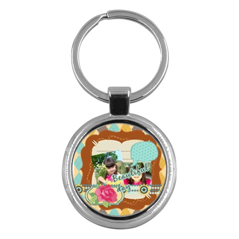Kids By Kids   Key Chain (round)   Lmi9s5fpgqky   Www Artscow Com Front