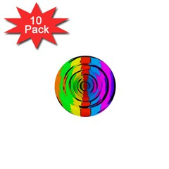 Rainbow Test Pattern 1  Mini Button (10 Pack) by StuffOrSomething