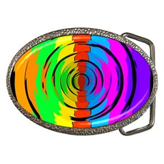 Rainbow Test Pattern Belt Buckle (Oval) by StuffOrSomething