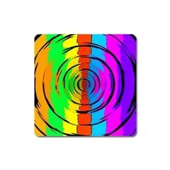 Rainbow Test Pattern Magnet (square) by StuffOrSomething