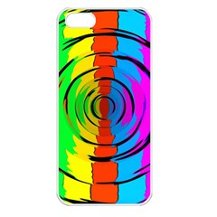 Rainbow Test Pattern Apple Iphone 5 Seamless Case (white) by StuffOrSomething