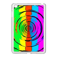 Rainbow Test Pattern Apple iPad Mini Case (White) by StuffOrSomething
