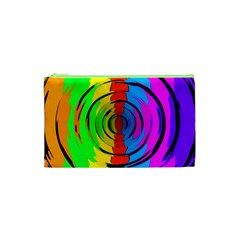 Rainbow Test Pattern Cosmetic Bag (XS) by StuffOrSomething