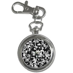 Background Noise In Black & White Key Chain Watch by StuffOrSomething