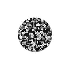 Background Noise In Black & White Golf Ball Marker by StuffOrSomething