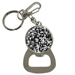 Background Noise In Black & White Bottle Opener Key Chain by StuffOrSomething