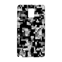 Background Noise In Black & White Samsung Galaxy Note 4 Hardshell Case