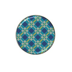 Squares And Stripes Pattern Hat Clip Ball Marker by LalyLauraFLM
