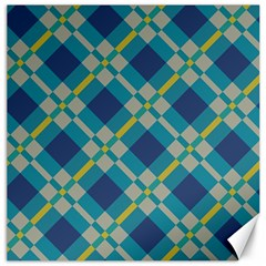 Squares And Stripes Pattern Canvas 12  X 12  by LalyLauraFLM